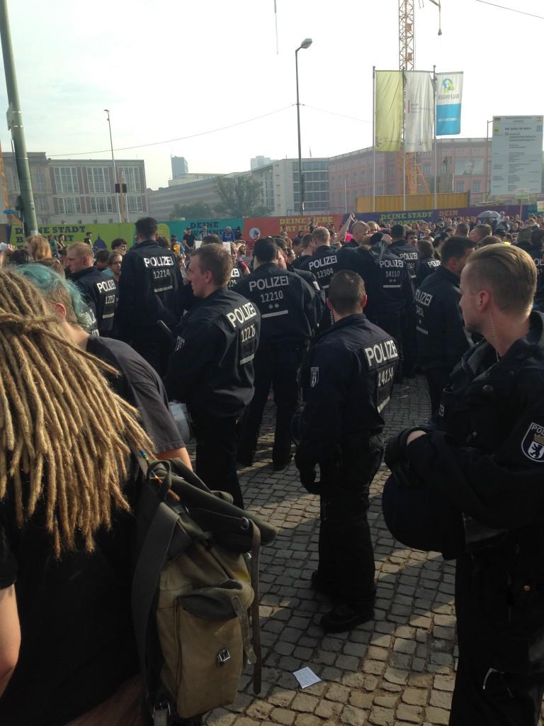 Großaufgebot von Polizei