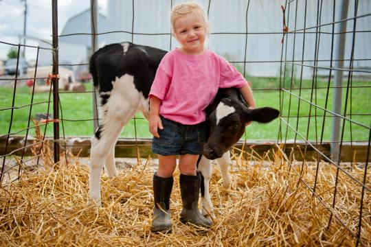 Girl-with-calf-